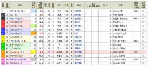 7/17 福島5R新馬戦 芝1,800m
