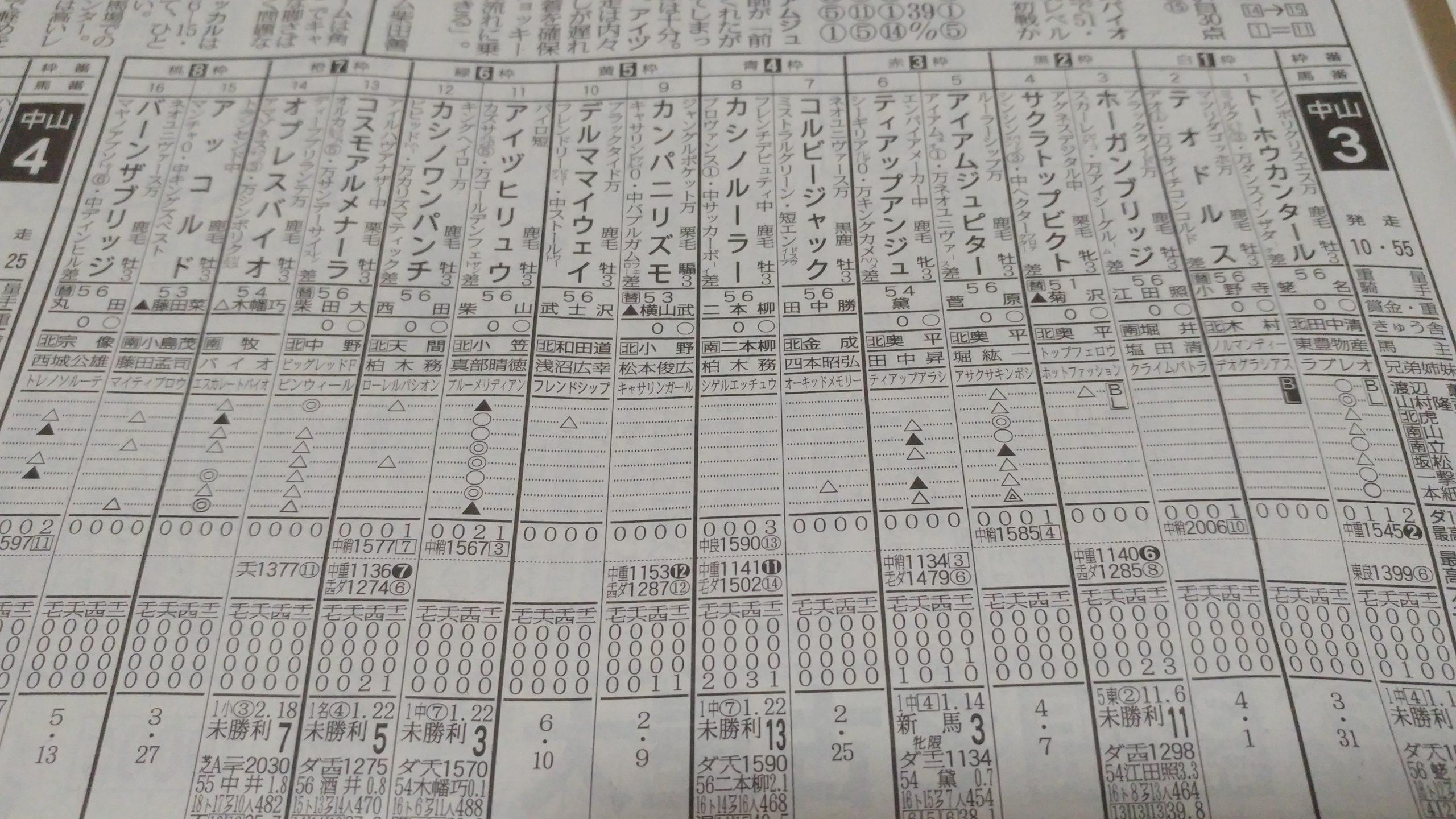 3.26 中山3R@東スポ